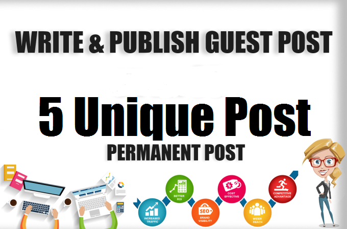 Write And Publish 5 Guest post on high DA
