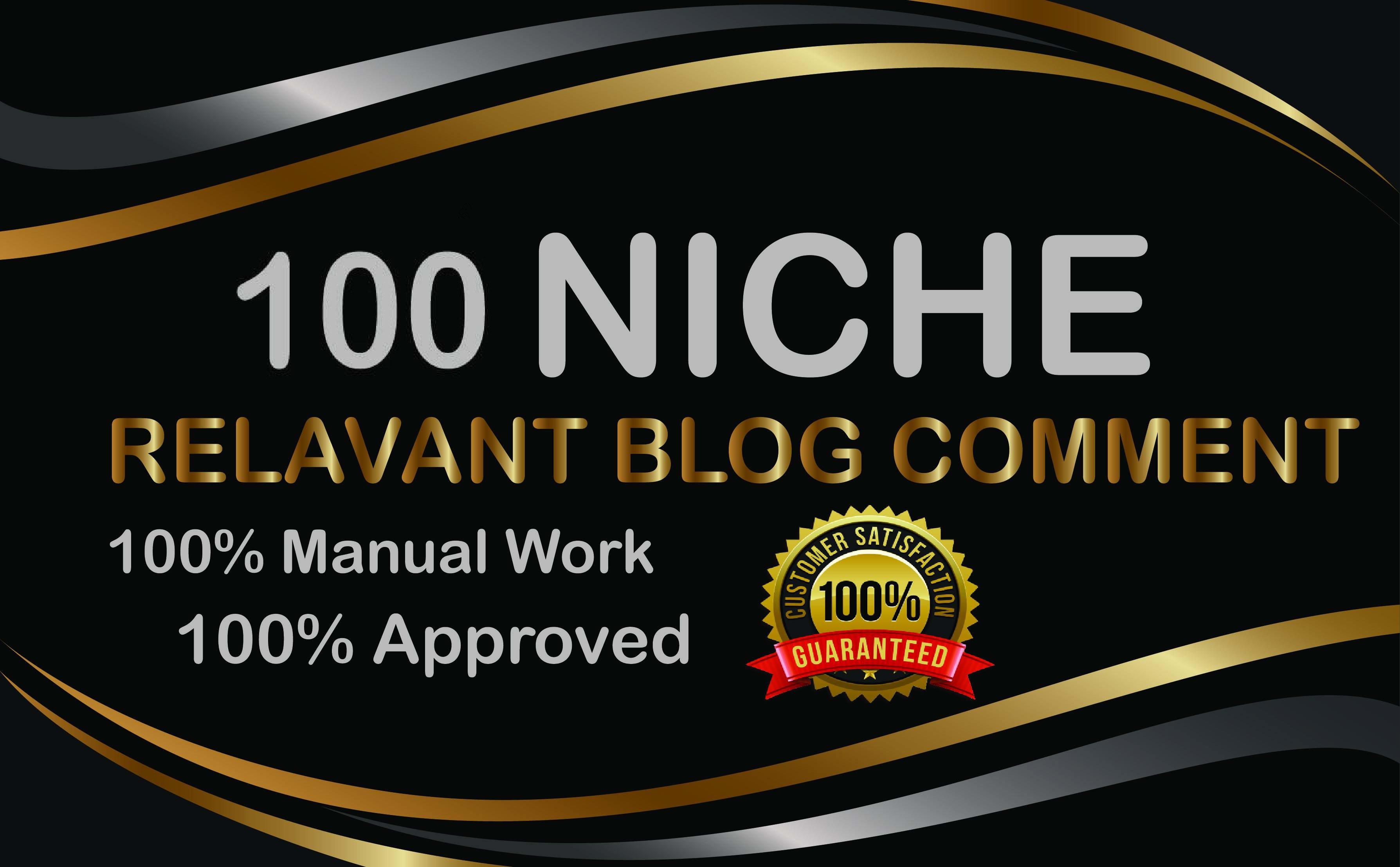 provide 100 niche relevant blog comments