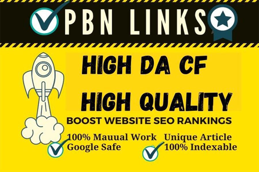 PBN Backlinks 20 High DA PA CF TF High Quality backlinks