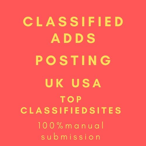 I will post 60 classified ads manually in top usa,  uk sites