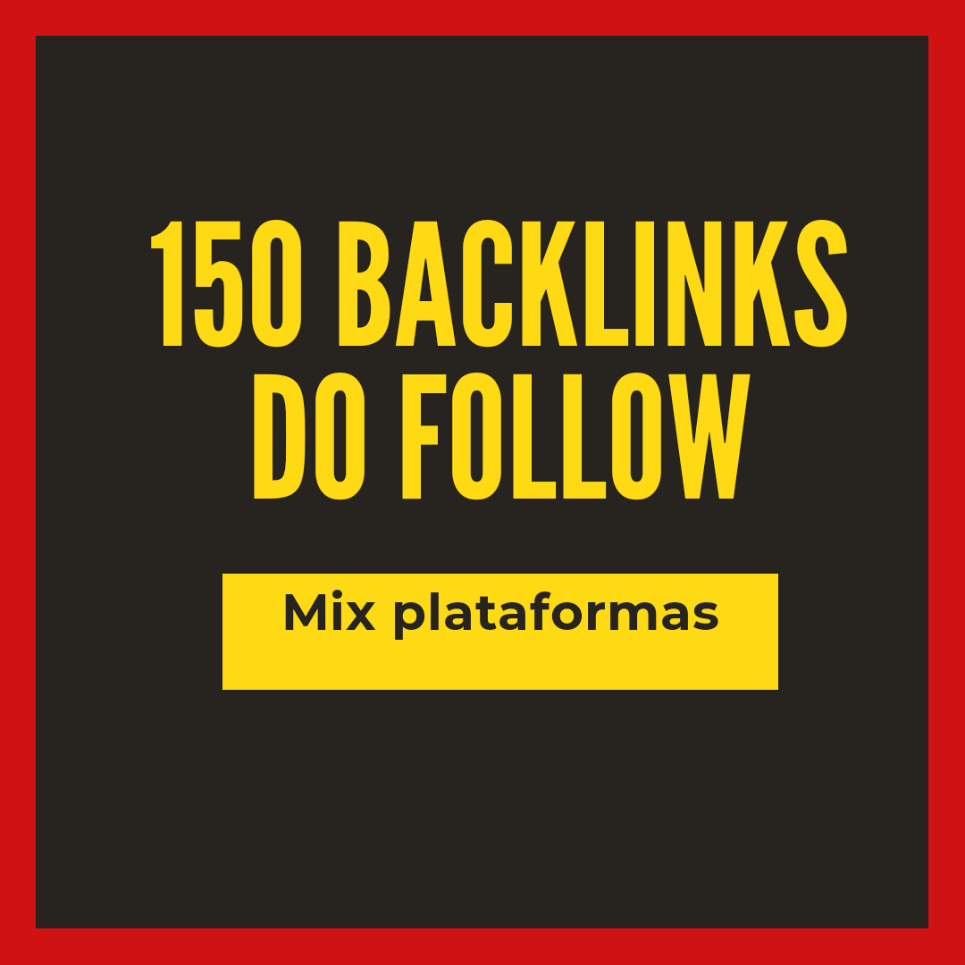 150 backlinks dofollow high quality