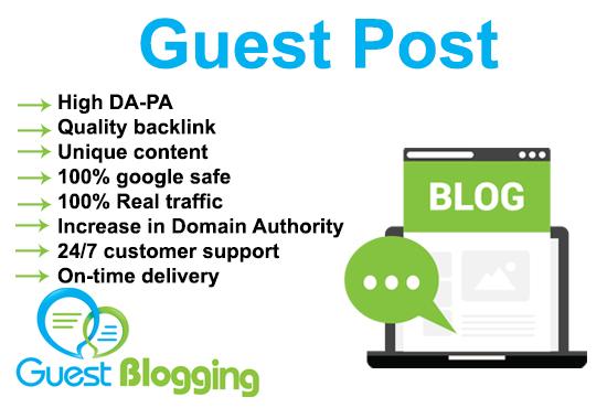 I will publish high da pa dofollow business 30 guest post good site health