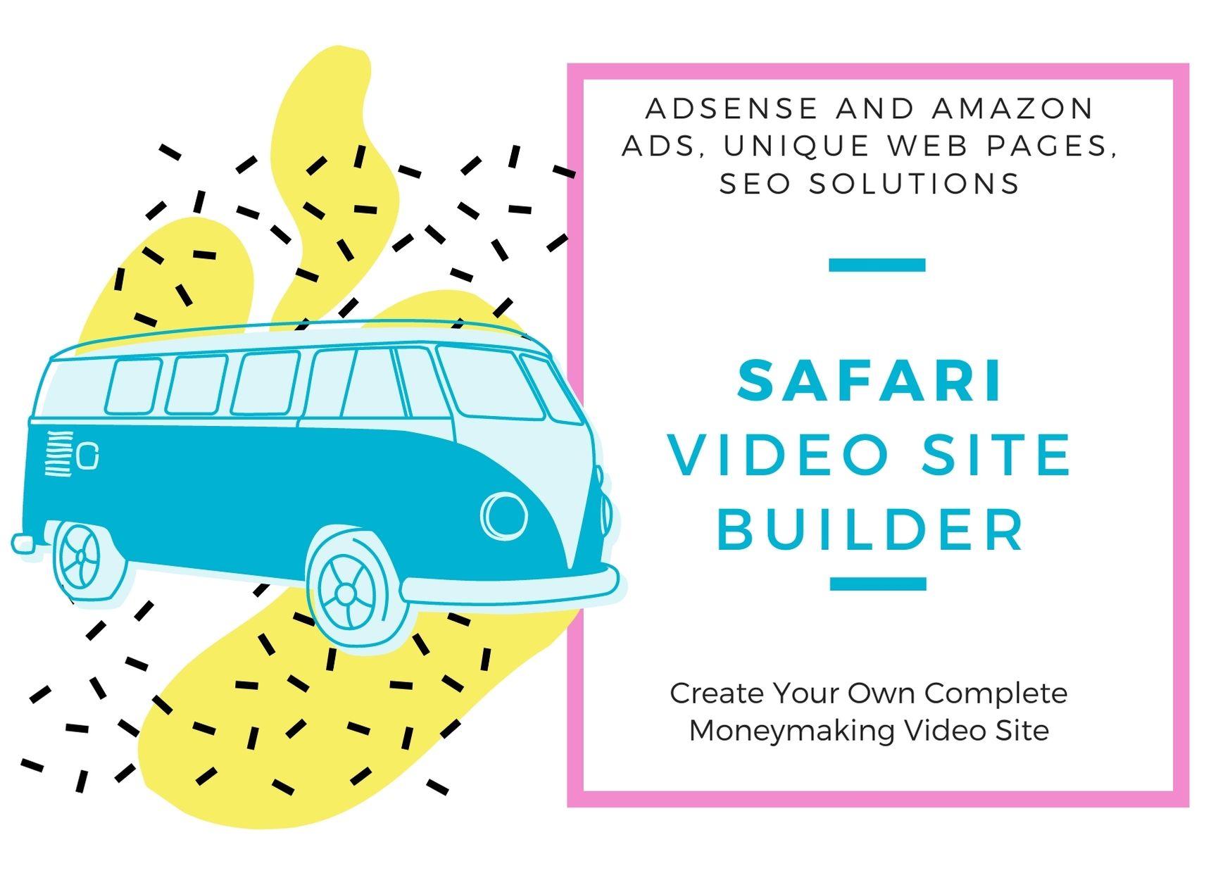 Safari Video Site Builder, create your own money making site