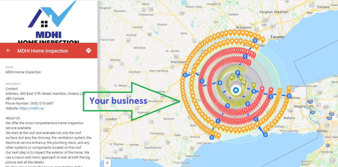 I will create 4000 google maps citations for local business SEO