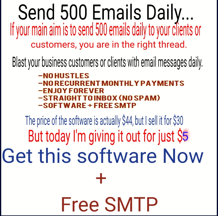 Bulk Email Sender + Free Smtp to Send 500 Emails Daily