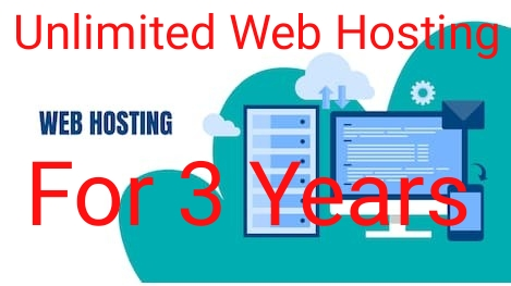 I Will Give You Unlimited Web Hosting Plan For 3 Years