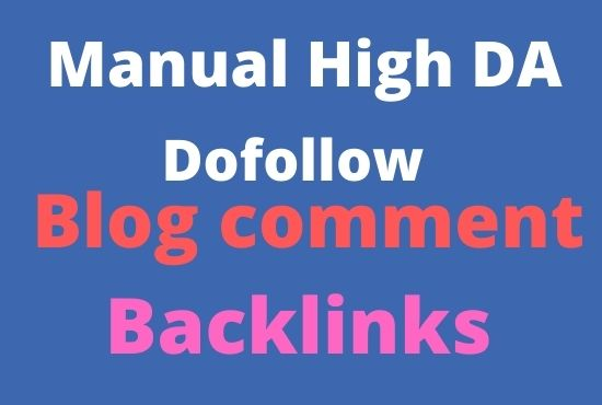 Create 150 blog comment manual Backlinks