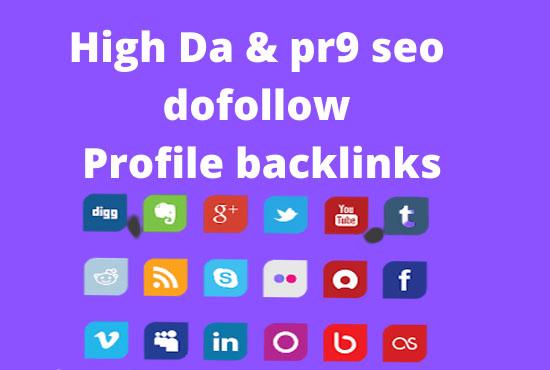 Create manually 50 high dadofollow profile backlinks with high pr