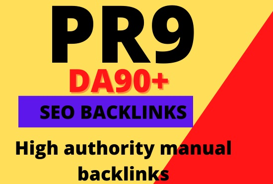 Create 30 pr9 seo authority dofollow backlinks
