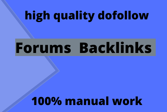 Create manually 30 dofollow forums backlinks with high pr
