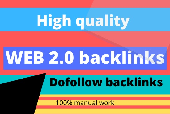 Create 50 high authority web 2.0 profile backlinks service