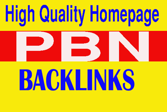 Create 50 High quality homepage pbn backlinks Dofollow quality