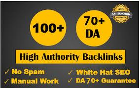 Create 100 high authority with high da seo dofollow backlinks