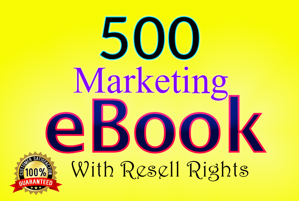 500 marketing ebooks with resell rights