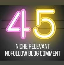 I Will Create Manually 45 Niche relevant blog comments backlinks