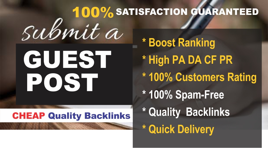 I will guest post on high Domain Authority website for traffic Sales Exposure and Page Ranking