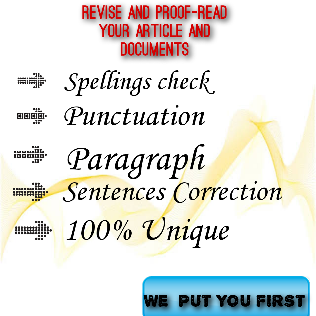 Proofreading and Rephrasing service available