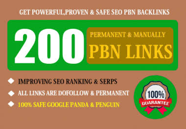 Get 200 powerful PBN backlinks and 200 social bookmarks to skyrocket your website to the top