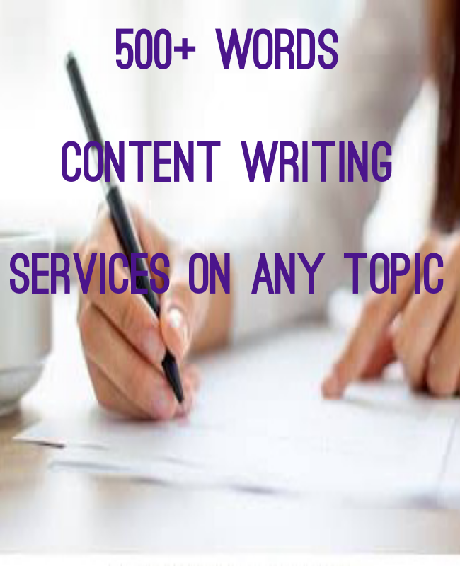 Content writing services on any topic