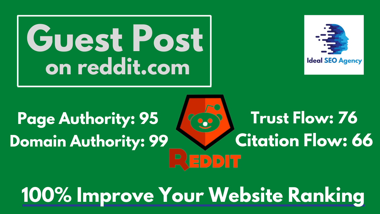 Write And Publish A Guest Post On Reddit DA 99 PA 95 with Permanent Backlink