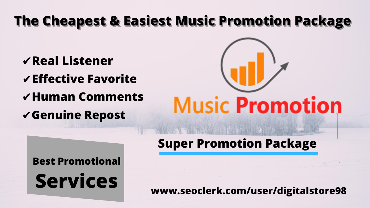 Super Music Promotion package- Promote Your Track with Best Promotional Services