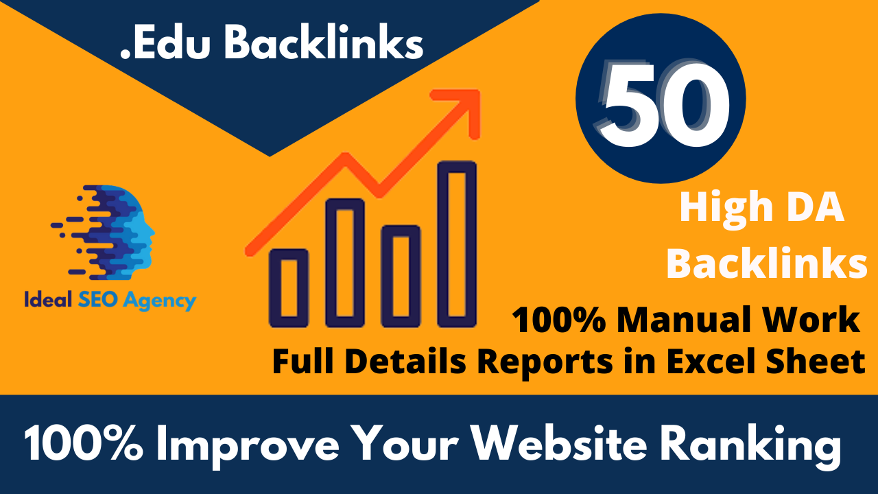 10 Manual & Quality Strong Profile. EDU Backlinks All Links Comes from Top Rated Universities