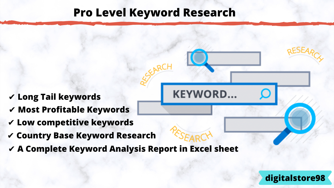 Most Profitable Keywords Research And Competitor Analysis On Any Niche