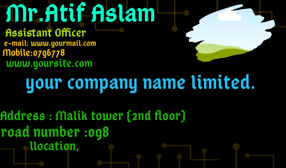 i will give you new business card design. and it's price is so cheap,  for details contact with