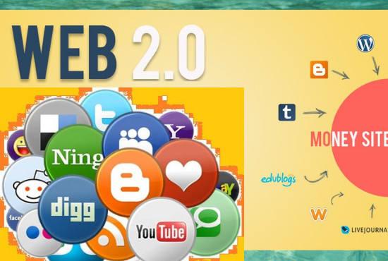 Create 25 Best High DA Dofollow Web 2.0 Blogs with unique content & image