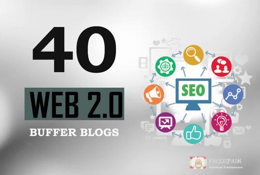 Manually Create 40 DA Dofollow High Quality Web2.0 Blogs