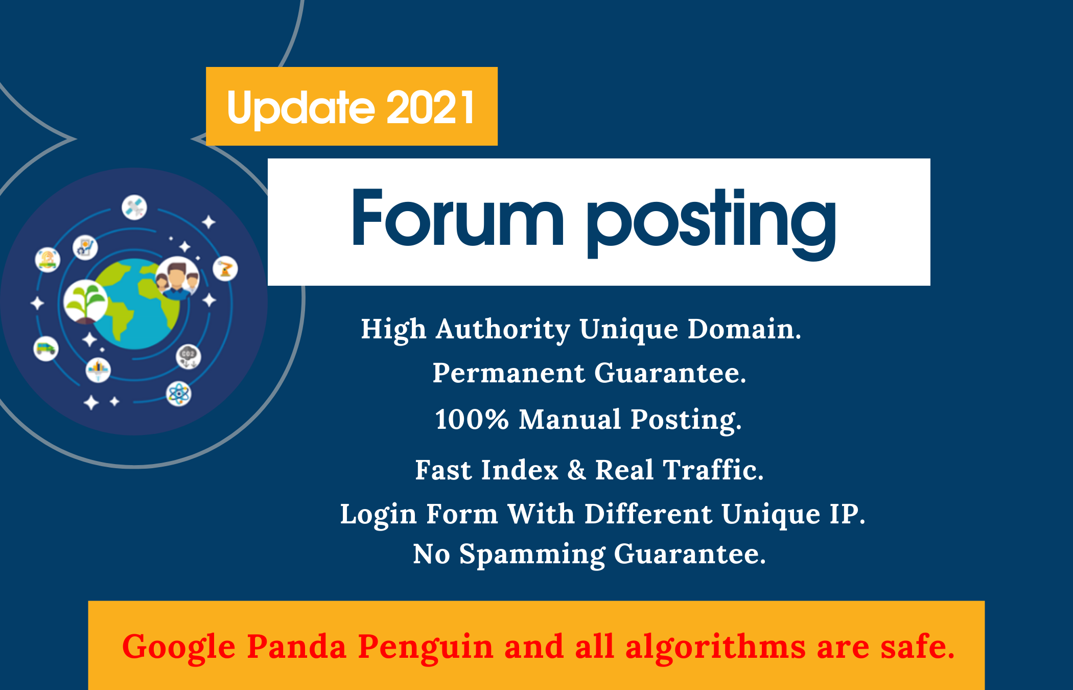 Dofollow 40 Forum posting on High-Quality Sites