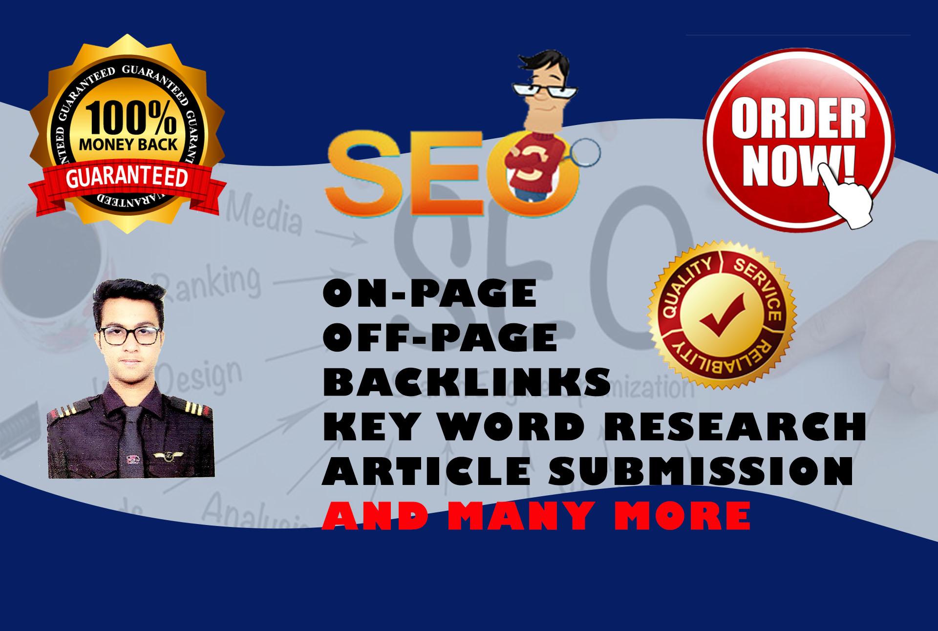 I will Do High DA 100 backlinks to rank the website fast