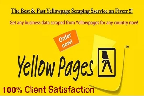 I will scrap yellow pages to get email lists, number, address etc