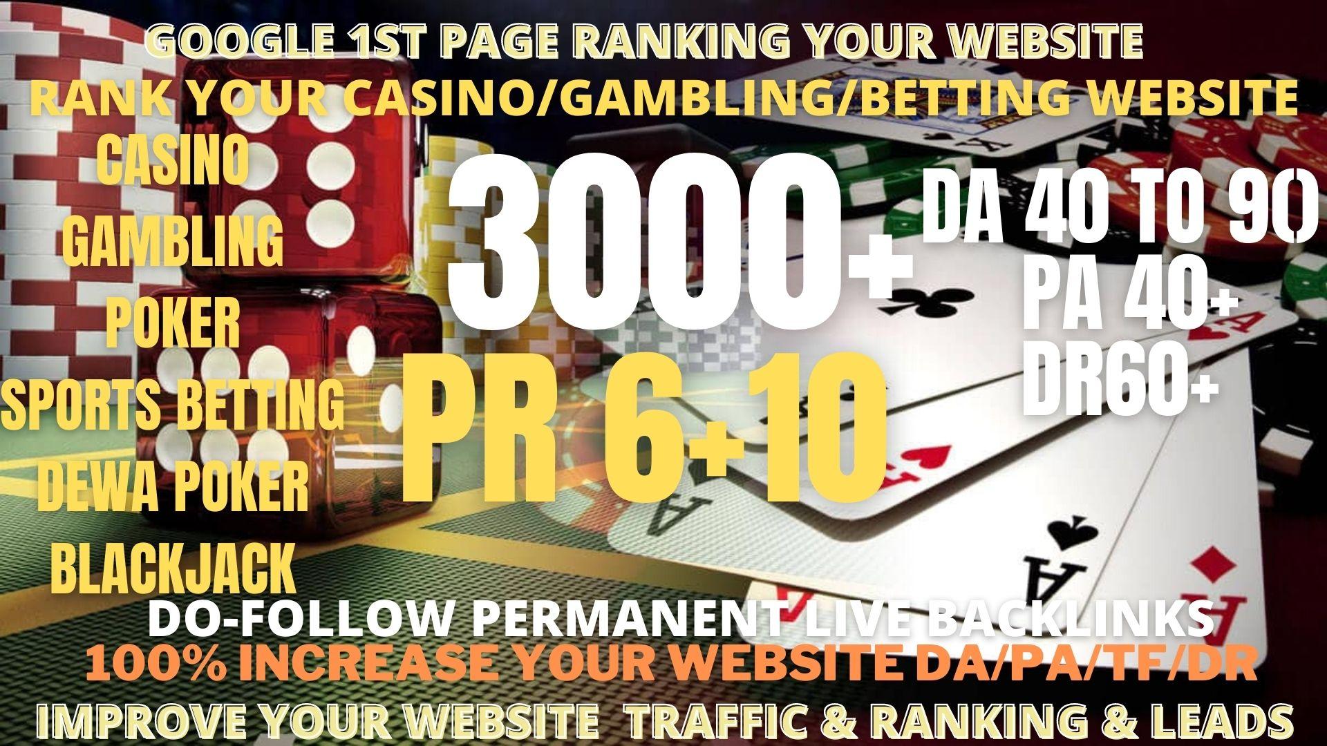 3000+Pbn powerfull Casino,  Gambling,  Poker,  Sports Betting High Quality Web2.0 Backlinks