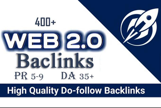 CREATE MANUALLY DA 35+ PA35+ web 2.0 400 Powerful PBN 400 unique site
