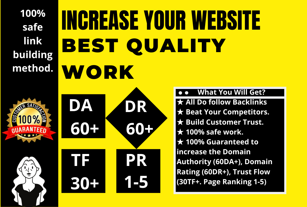 With 3000 backlinks Increase your Domain Rating to DR60+ Ahrefs