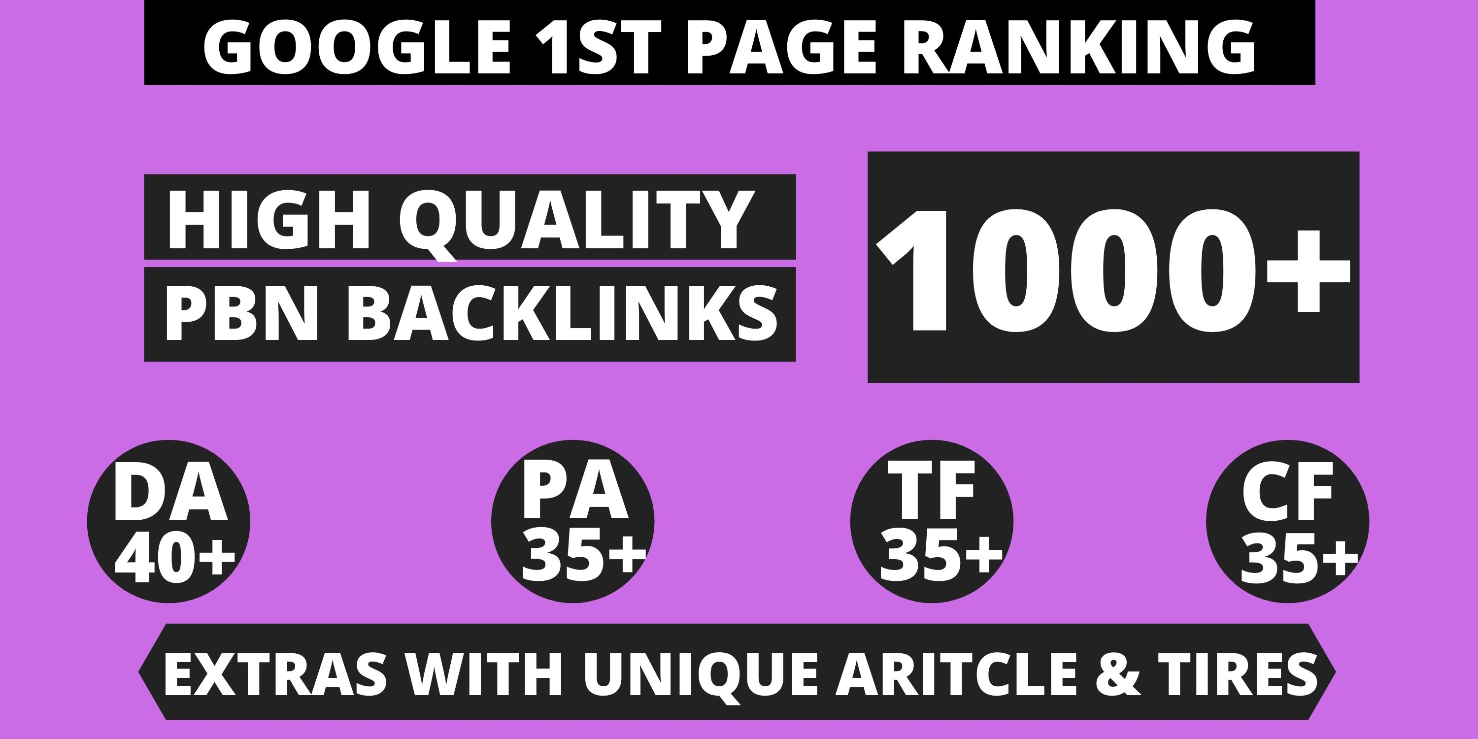 1000 web2.0 Backlinks Manually High Rank Your Website on Google