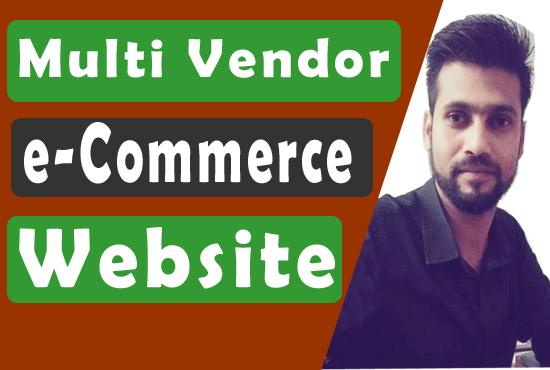 Multi Vendor e-Commerce website