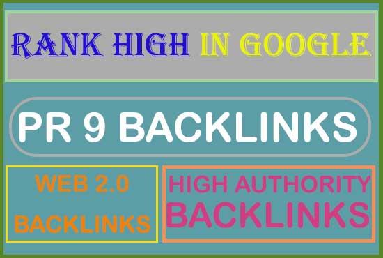 i will provide super quality web 2.0, PR 9, dofollow authority backlinks.
