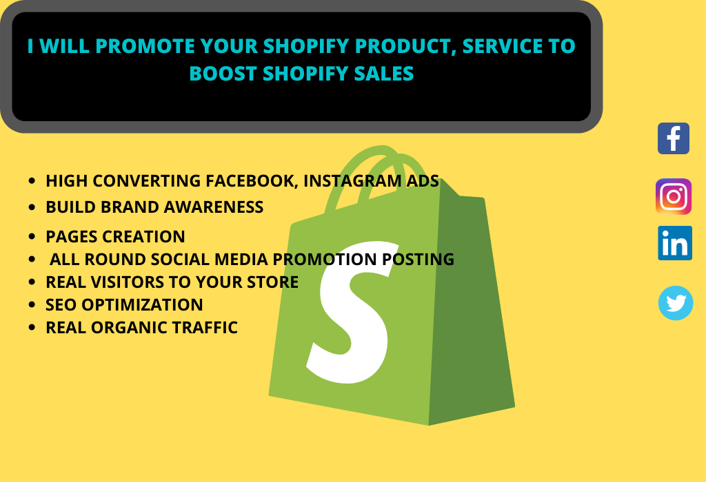 I will promote and drive organic shopify traffic to boost shopify sales
