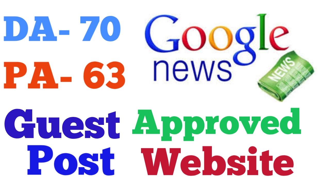 Guest post on Google news approved website