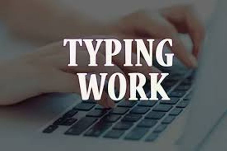 I will do professional typing job,  type documents in 4 hours