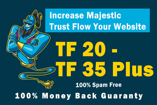 I will increase your website trust flow TF 25+ for google rankings