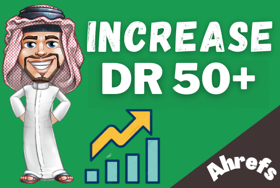 I will increase your website domain rating 50+ for google rankings