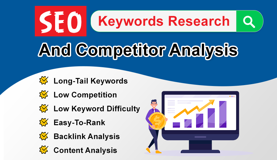I will do keyword research & 1 competitor analysis