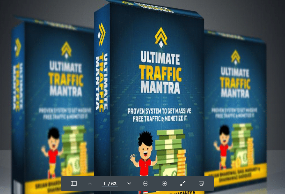 Ultimate Traffic Mantra-Proven System To Get Massive FREE Traffic & Monetize It