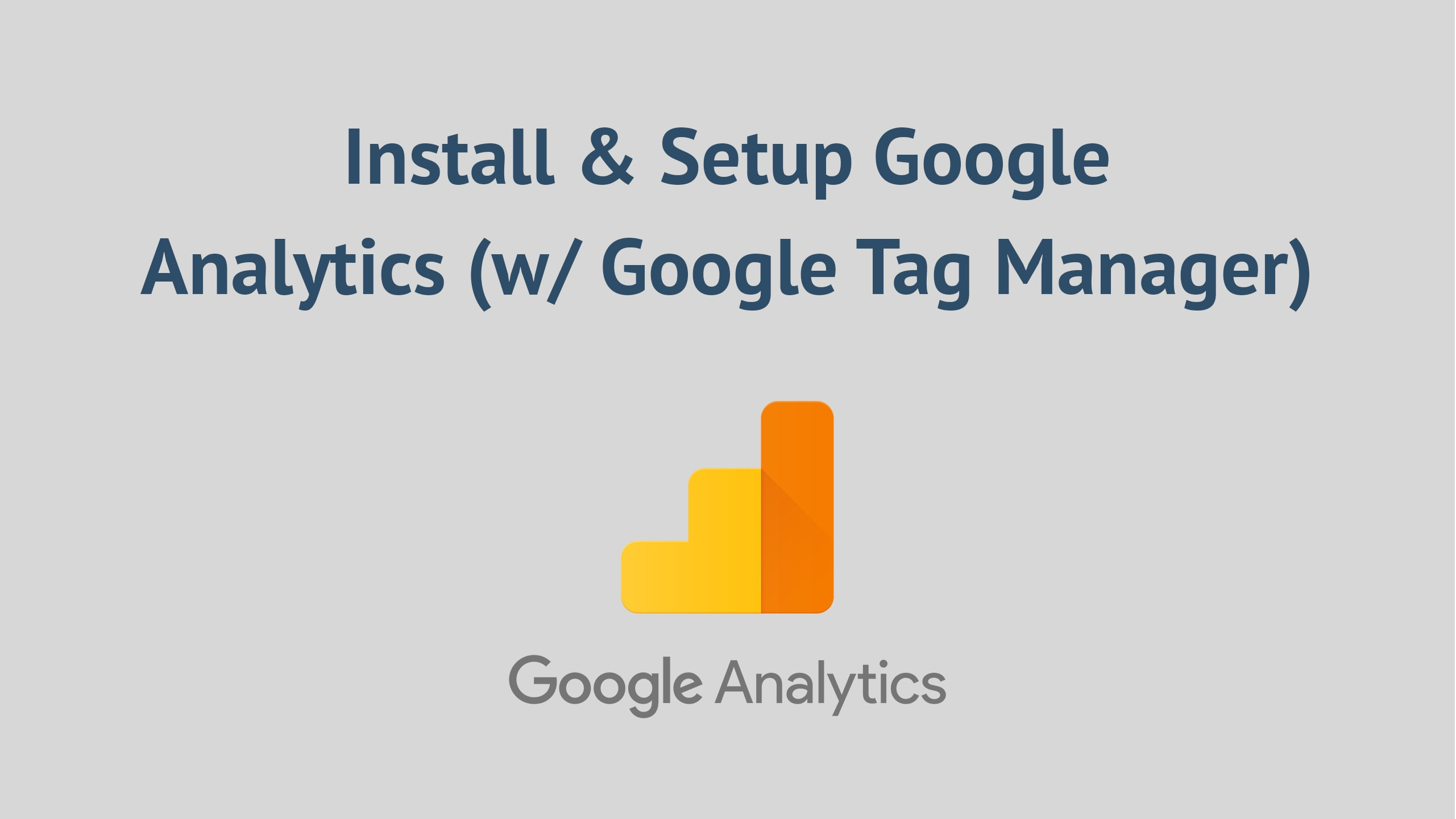 I will setup google analytics with tag manager for your website