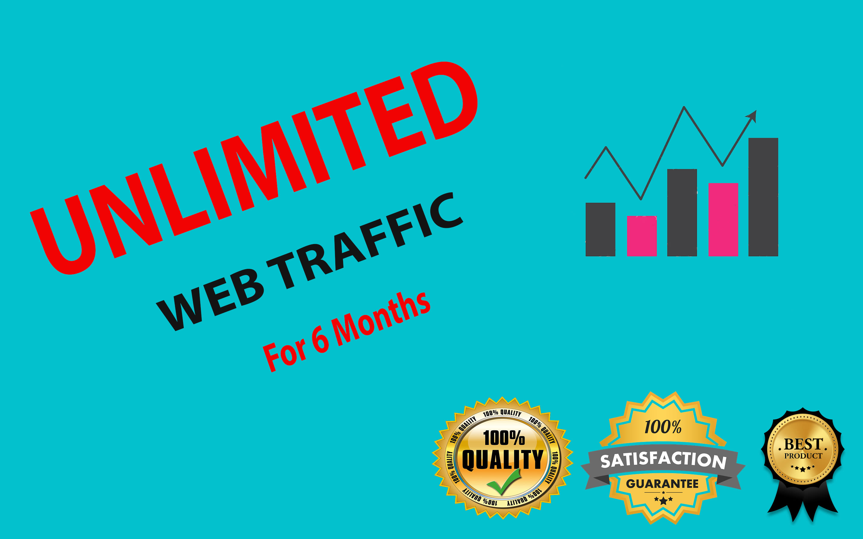 UNLIMITED WEB TRAFFIC FOR 6 MONTHS By Expertly