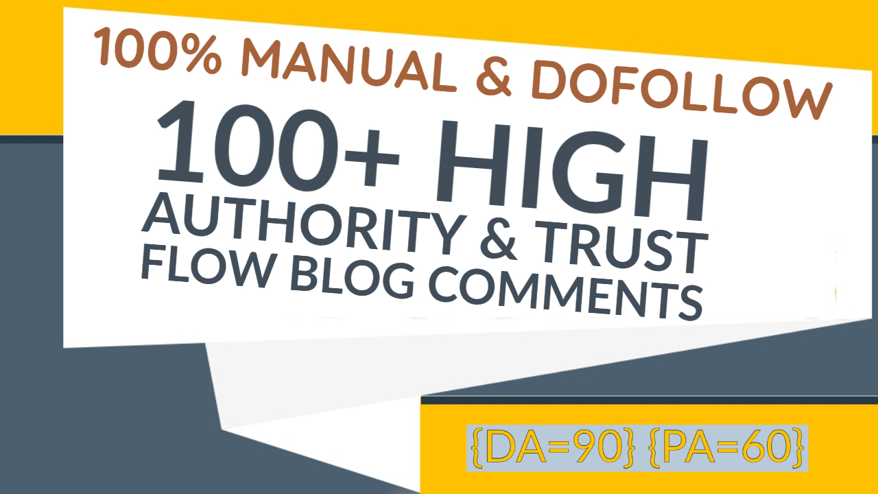 I Will Do 100+ High Quality Dofollow Blog Comments Backlinks
