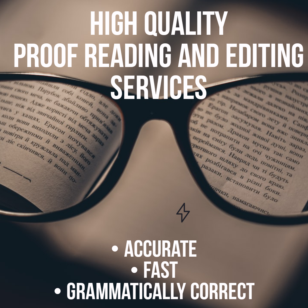 I will do high quality,  professional proof reading services for articles of 500 words for 3